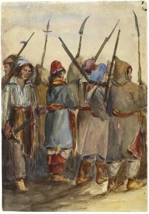 Les Insurgés, à Beauharnois, Bas-Canada, 1838