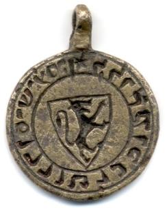 Sceau armorié de Kalonymos ben Todros, dernier roi des Juifs de Narbonne, expulsé en l'an 1306 après JC.