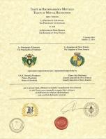 Traité de Reconnaissance Mutuelle avec la Principauté d'Austrasie