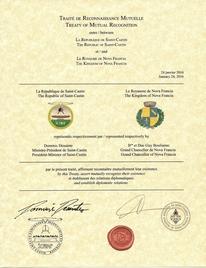 Traité de Reconnaissance Mutuelle - République de Saint-Castin