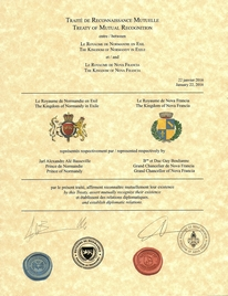 Traité de Reconnaissance Mutuelle - Royaume de Normandie en Exil