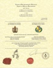 Traité de Reconnaissance Mutuelle avec la Principauté de Lorenzburg (23 janvier 2016)