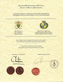 Treaty of Mutual Recognition - The Kingdom of Hanover