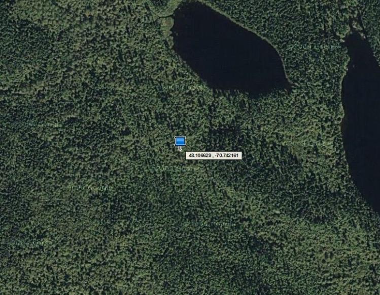 La parcelle de terrain unique et symbolique de Sébastien Bourbon Baron de Fleury est centrée sur le point GPS de latitude 48.106629 et de longitude -70.742161 au sein du Royaume de Nova Francia, sur le territoire non organisé de Lalemant, au Québec (Canada).