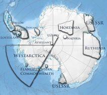 Les territoires revendiqués par l'Union Micronationale Antarctique.