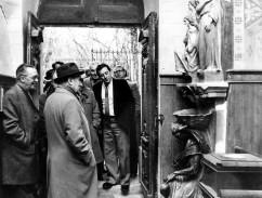 François Mitterrand lors de sa visite à Rennes-le-Château, le 2 mars 1981.