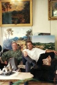 Robert Tiers et Guy Boulianne devant le tableau de Nicolas Poussin (Avignon, 1997)