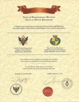 Treaty of Mutual Recognition - The United Empire of Great Petoria