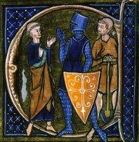 Enluminure médiévale représentant l'organisation sociale en trois ordres : le clerc, le chevalier et le travailleur.