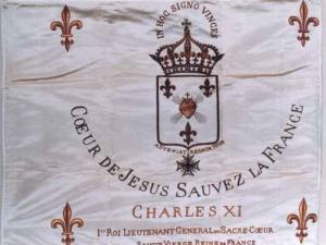 Étendard du Roi-lieutenant du Sacré-Coeur, Louis-Charles de Bourbon-Naundorff (1831-1899).