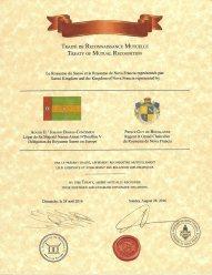 Traité de Reconnaissance Mutuelle - Royaume du Sanwi